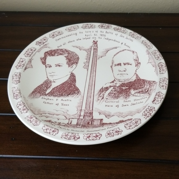 """none Other - Battle of the San Jacinto plate 10.5"""""""